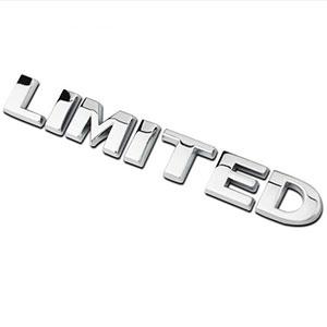 Decal tem chữ LIMITED 3D Inox trang trí ô tô G90907