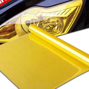 Phim dán màu vàng trang trí đèn xe hơi 110 x 30 x 5 cm