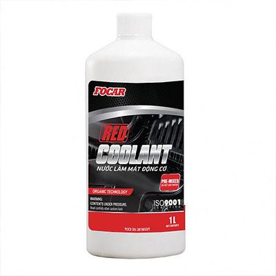 Nước làm mát động cơ ô tô Focar Red Coolant 1L (Đỏ)