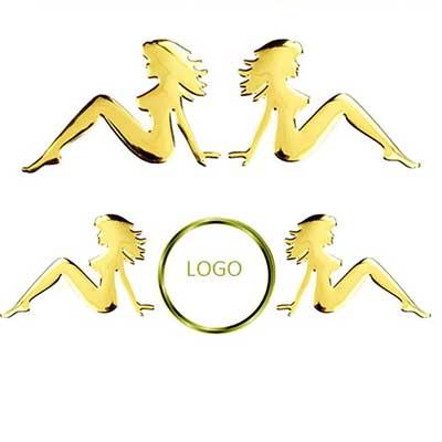Sticker cô gái (Vàng)